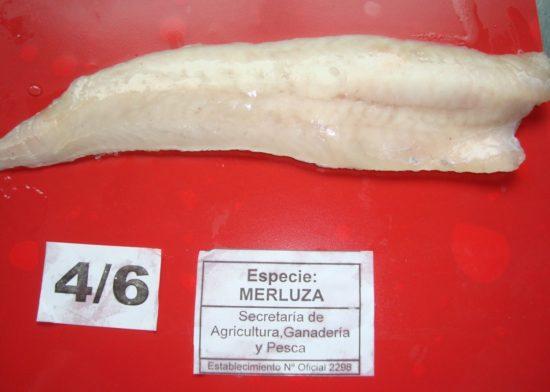 Filet de merluza sin piel, 4/6 oz.